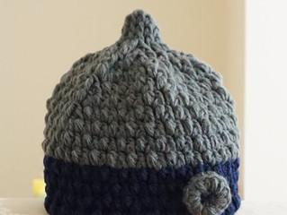 毛糸ボタンのどんぐり帽