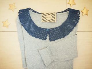 編み物教室 シンプルネットつけ襟