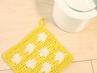 編み物教室 ポットマット