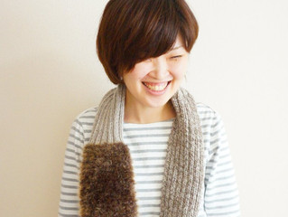 編み物教室 モフモフファーのスヌード