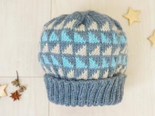 編み物教室 △模様のニット帽
