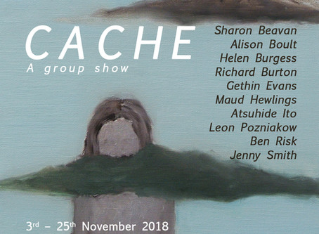 Cache Exhibition Opening at Angus-Hughes Gallery 6PM 2nd Nov. 2018
