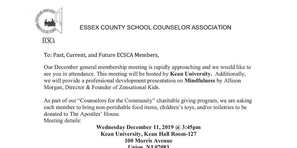 Our Second General Membership Meeting Sponsored By Kean University