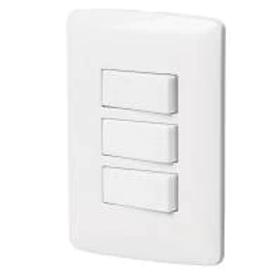Placa Volteck tres interruptores