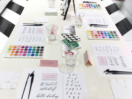 Kate Spade | Mini Calligraphy Workshop | Michigan Avenue