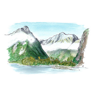 Milford Sound from Sandfly Point