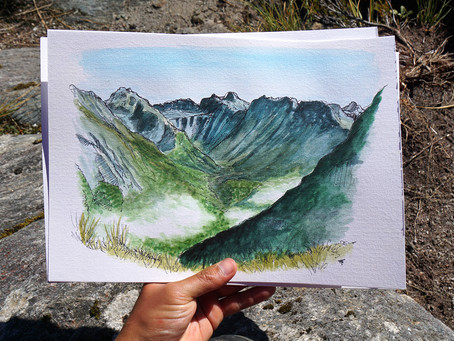 Painting Milford Track - My First Multi-Day Hike