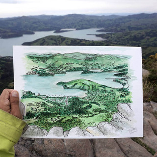 Akaroa from Purple Peak