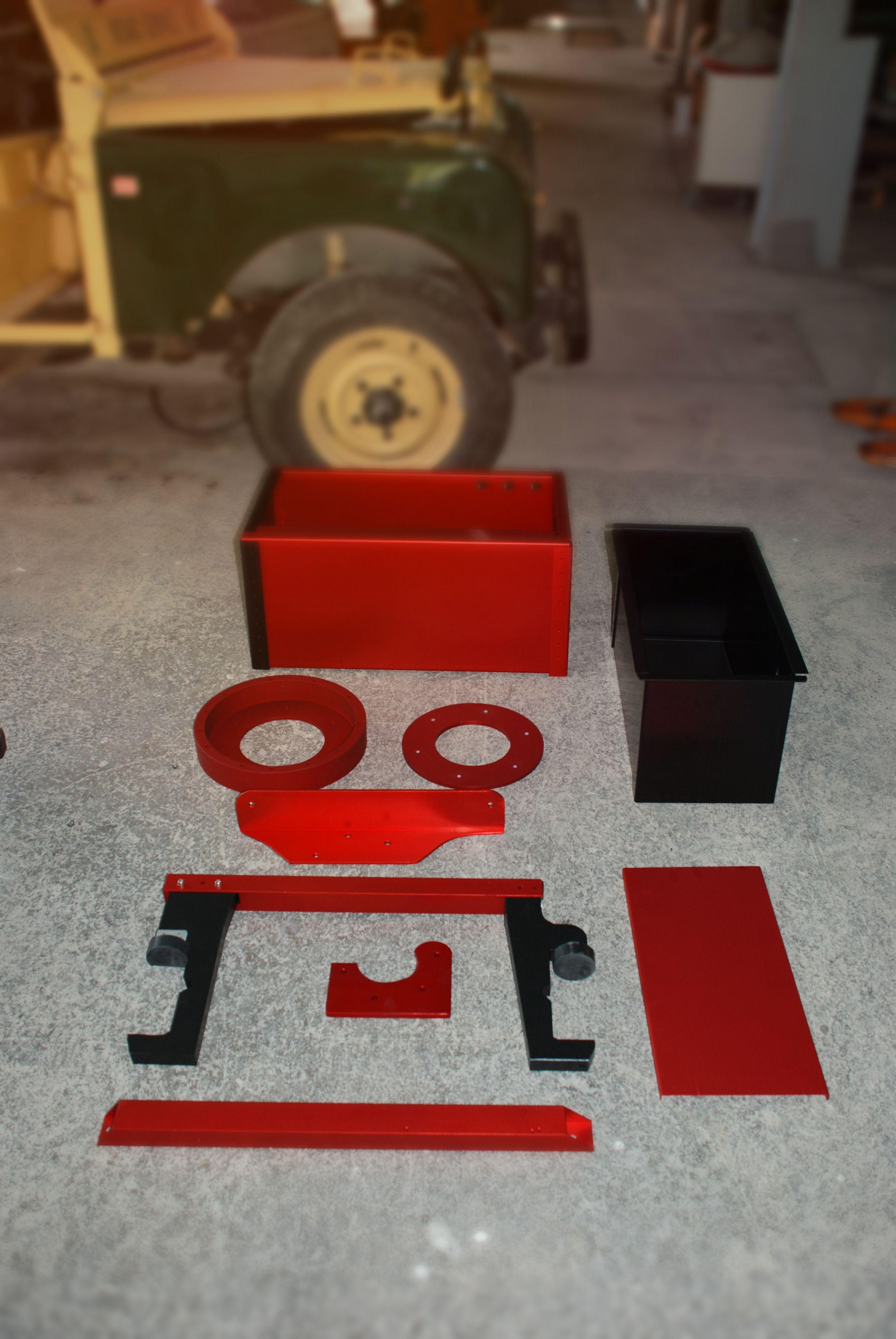 Battery Cases + Motor Mount