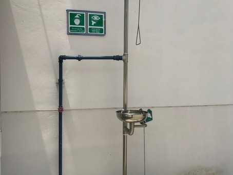 Emergency water shower