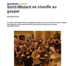 Saint-Médard se chauffe au Gospel