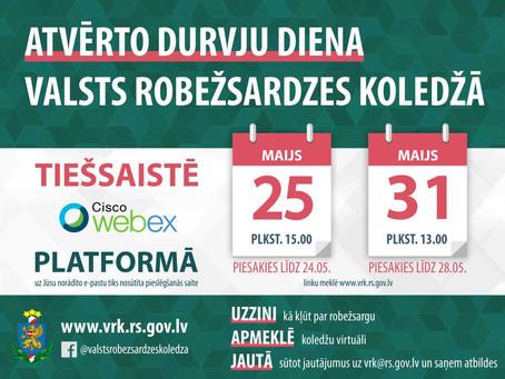 Valsts robežsardzes koledžas Atvērto durvju diena notiks 25. un 31.maijā