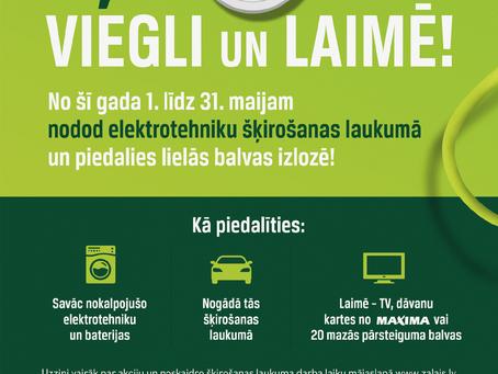 Aicina Rēzeknes pilsētas un novada iedzīvotājus nodot nevajadzīgo elektrotehniku un laimēt noderīgas