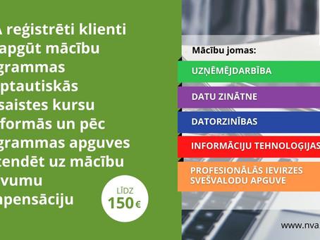 NVA piedāvā bezdarbniekiem un darba meklētājiem iespējumācīties atvērto tiešsaistes kursu platformā