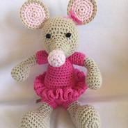 Maus mit Röckchen pink