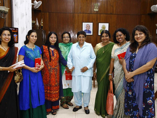 "LAUNCH OF ""DELETE, LOGOFF & SHUTDOWN CORRUPTION"" BY DR. KIRAN BEDI"