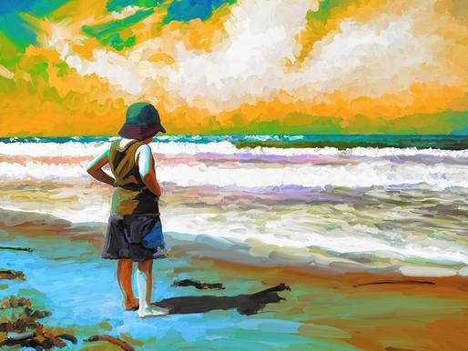 At sea beach