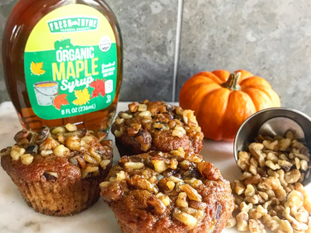 Maple Walnut Pumpkin Muffins