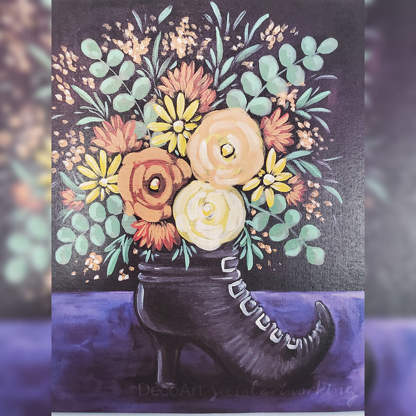 Witch's Boot Bouquet Workshop