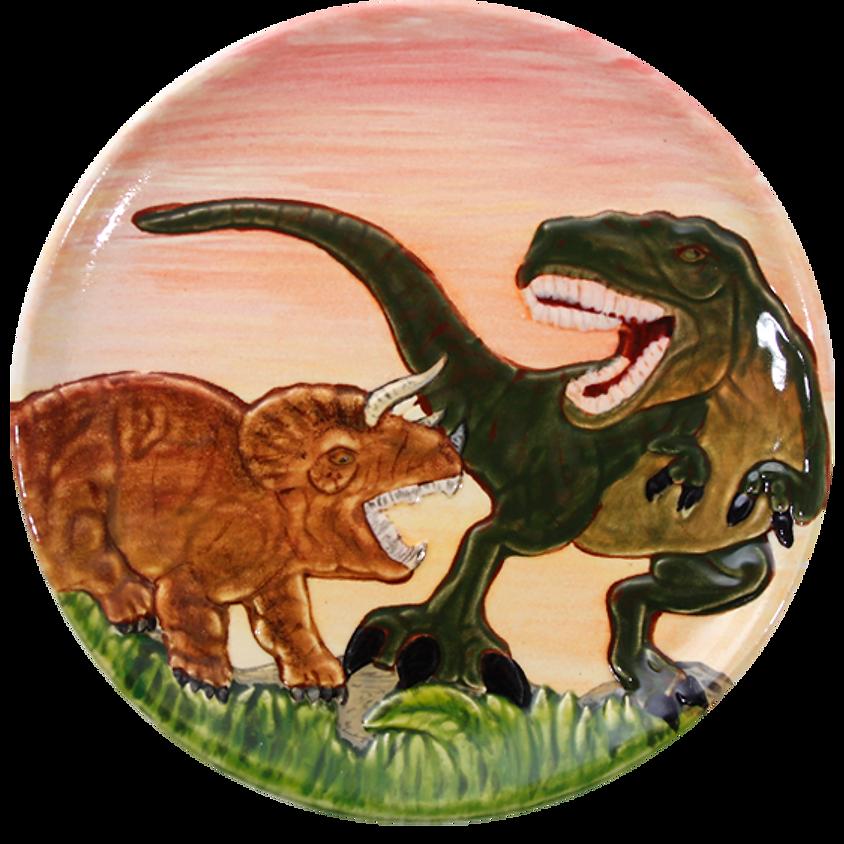 Preschool Mini Masterpiece Hour- Unicorn or Dinosaur Plate