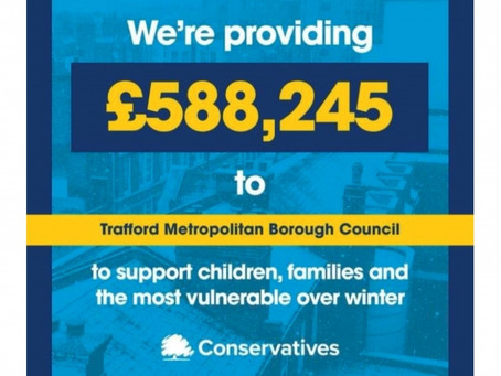 £588,244 announced to further support vulnerable children and families in Trafford this Winter