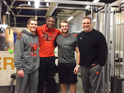 BC Lions visit the gym