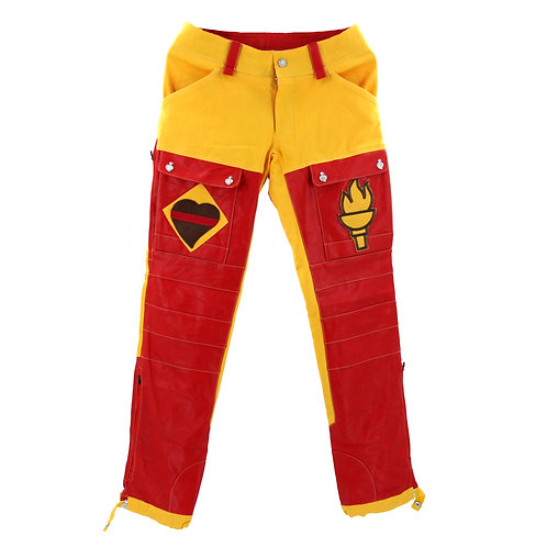 Romping Cargo Pants (Red/Yellow)