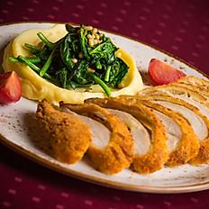 Шницель «по-Милански»  из филе цыплёнка с сыром моцарелла