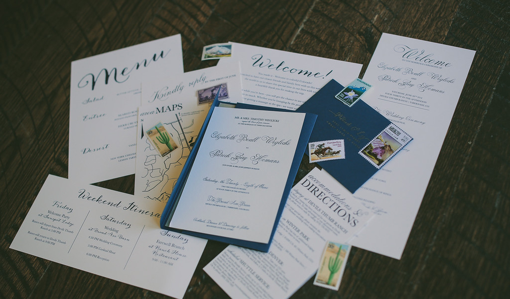 Navy and white Wedding Suite