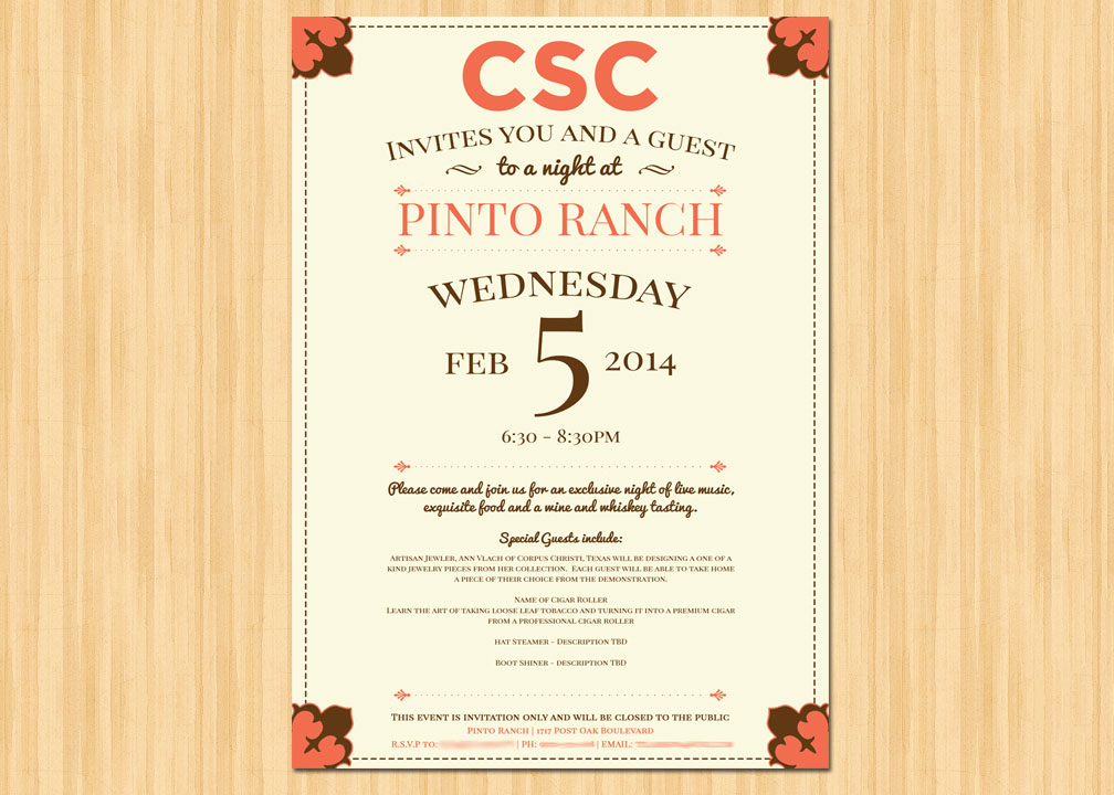 Corporate Retreat Wedding Invitation