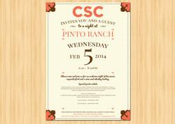 Corporate Retreat Wedding Invitation