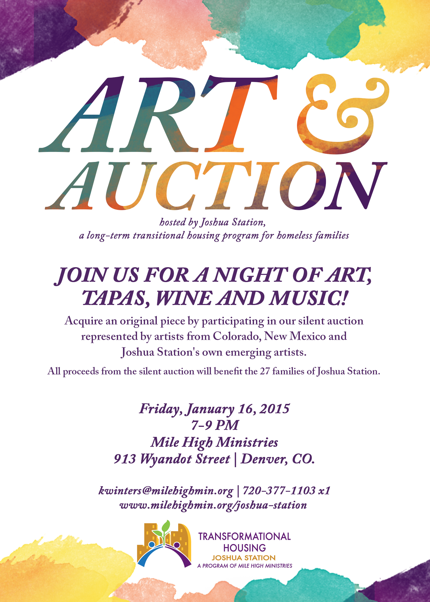 Art Auction Invitation