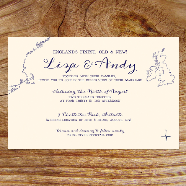 New England Wedding Invitations