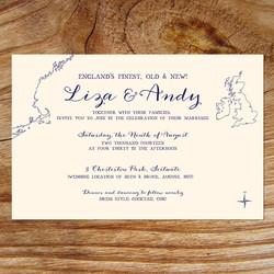 New England Wedding Invitations