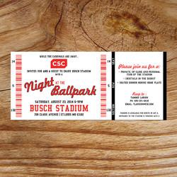 Baseball Ticket Invitations