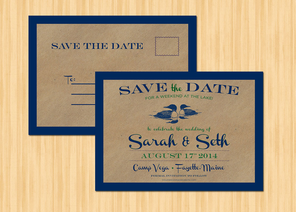 Maine Wedding Save The Date