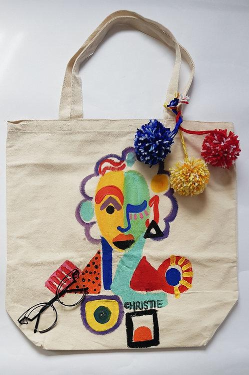 """Beauty"" Large Canvas Bag"