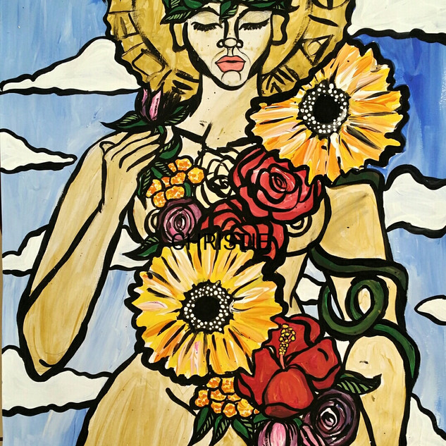 The Black Madonna: bloom