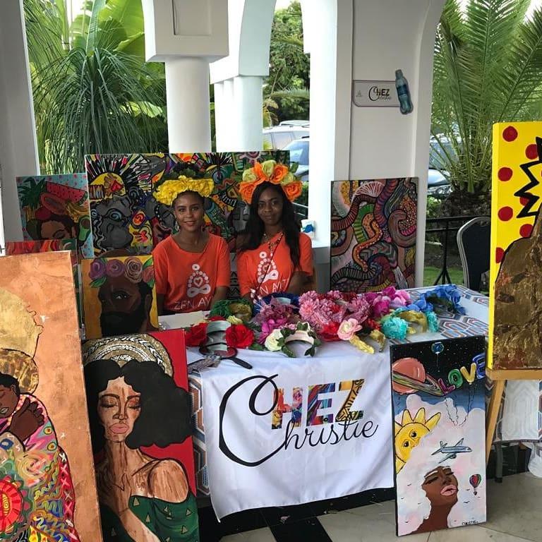 Talie and Chris at Zen Ayiti 2019