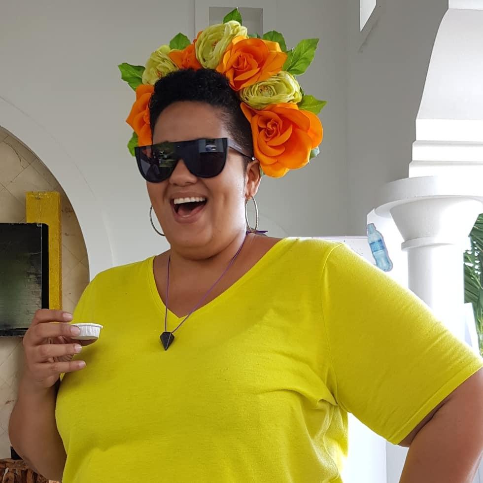 Bibi posing in Bloom Ayiti