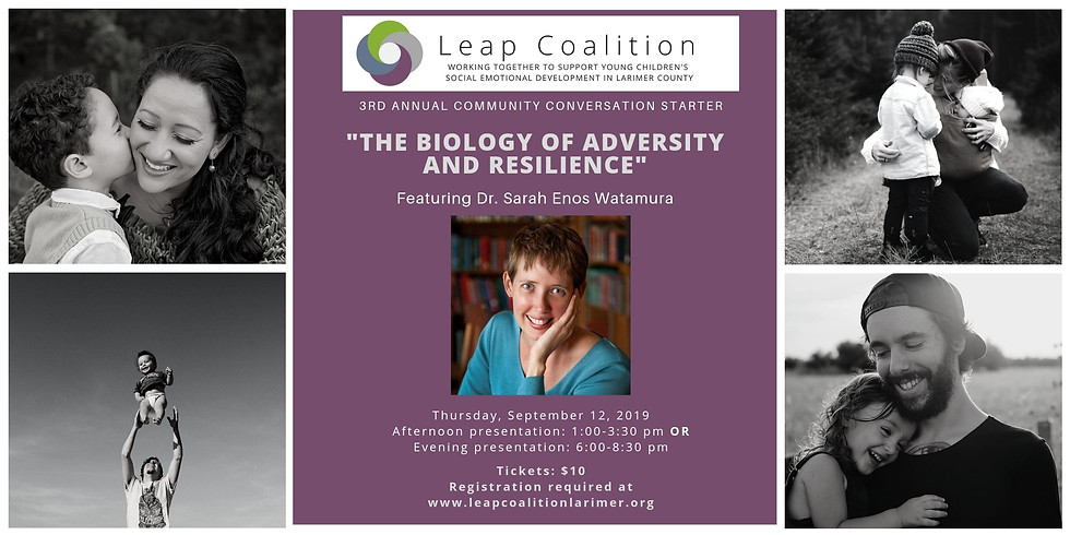 """""""The Biology of Adversity and Resilience: A two-generation perspective on risk and opportunity,"""" ft Dr. Sarah Watamura"""