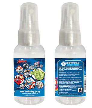 Marvel MAE0012 Avengers 75% Alcohol Hand Sanitizing Spray