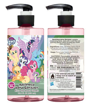 HMLP0004 My Little Pony Castle 75% Alcohol Advanced Hand Sanitizer