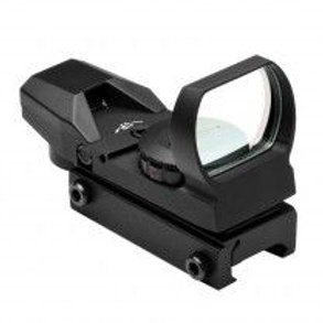 RED & GREEN DOT REFLEX SIGHT /4 DIFFERENT RETICLES/WEAVER BASE/BLACK