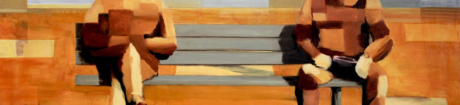 2 Men on a Bench (rectangles)