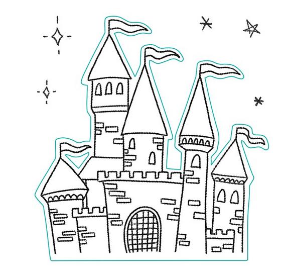 Princess Castle Stamp Set