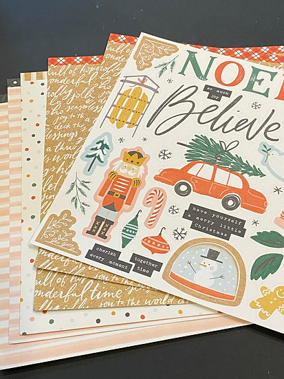 X7251S Cedar and Pine Paper Packet and Sticker Sheet
