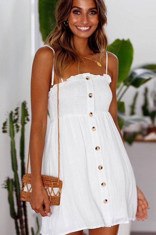 STRONGER SUN DRESS (WHITE)