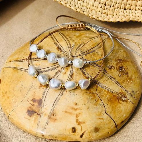 Bracelet 5 perles d'eau douce
