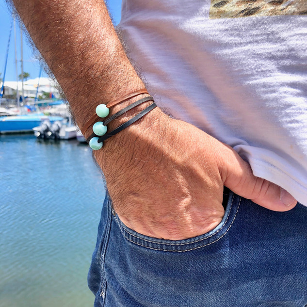 Cuir & Larimar for Men